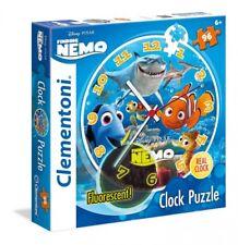 Kinder Puzzle Uhr mit Mechanismus & Fluorescent Clock Puzzel Nemo