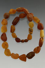Pieces Healing Necklace 35g n171123-1 Genuine Baltic Amber Unpolished Sea