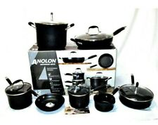 ANOLON ADVANCED  12 PCS HARD-ANODIZED NONSTICK COOKWARE Black color