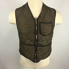Vintage 50s 60s Hunting Thermal Lined Quilted Vest Coat Jacket Small Distressed