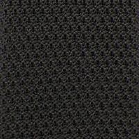 RALPH LAUREN PURPLE LABEL Mens Dark Gray SOLID Silk Knit SKINNY Tie Italy NWT