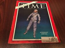 1961 NASA PROJECT MERCURY ALAN SHEPARD  TIME MAGAZINE nice