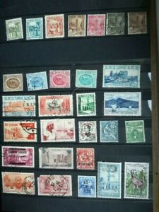 Selection of 68 French Colonies Stamps on 2 pages: MH, used