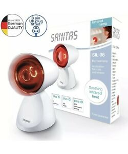 Beurer Sanitas SIL 06 100 W Infrared Lamp for Colds & Tension BNIB