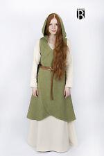 Mittelalter Wickelkleid Kleid Mantel Runa / LARP - Lindgrün von Burgschneider