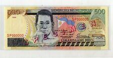 New listing Philippines 1999 500 Piso Specimen Banknote P185s Unc Estrada, Buenaventura