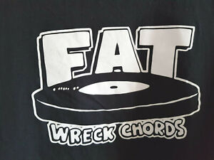 T-SHIRT SHIRT FAT WRECK CHORDS LABEL VINYL LP WIZO KRAUT & RÜBEN NOFX SCHWARZ XL
