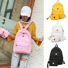 Women Large Capacity Casual Backpack Love Small Fresh Korean Canvas Backpack