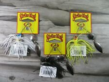 LOT OF 3 - STRIKE KING 1/8 OUNCE SPINNER BAITS - MINI SPINNERBAIT - 3 COLORS