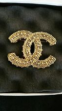 CHANEL BROOCH PIN XL TONE GOLD VINTAGE LIMITED EDITION NEW GORGEOUS!!