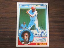 1983 Topps # 780 Gary Matthews Autographed / Signed Card C Philadelphia Phillies
