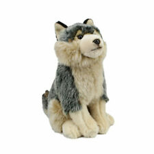 Grey Wolf Stuffed Animal Toy 30cm Faithful Friends Collectables UK