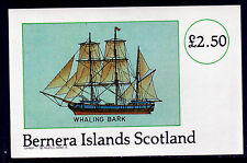 GB Locals - Bernera 3760 - 1982 WHALING BARK imperf deluxe sheet unmounted mint