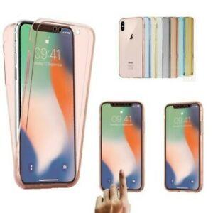 Étui Pour Apple IPHONE XS X XR Max Housse Antichoc Avant + Arrière 360 Silicone