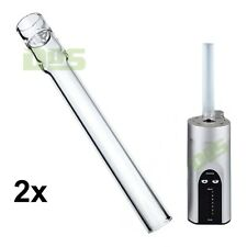 New Arizer Solo Straight Genuine OEM Glass Stem Mouthpiece Tube - 2 pack