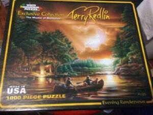 Evening Rendezvous 1000 piece Puzzle by Terry Redlin White Mountain Jigsaw Lake