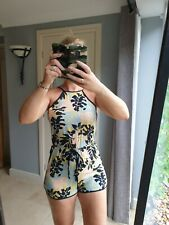 Size 8 Playsuit New Look Shorts Black Racer Back Sexy Summer Suit