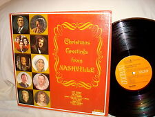 CHRISTMAS GREETINGS FROM NASHVILLE-ARNOLD/ATKINS/WEST-RCA  APL1-0262 VG+/VG+  LP