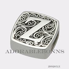 is for Zealous Slide Charm 29920Xz Authentic Lori Bonn Bonn Bons Silver Z