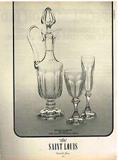 Publicité Advertising 1974 Cristal saint Louis Service Chambord