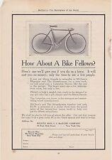 1890s Vintage Magazine Ad #B1-15 - Bicycle Man - New York City