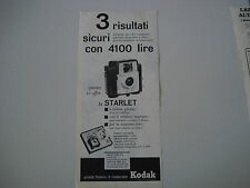 advertising Pubblicità 1962 KODAK STARLET CAMERA