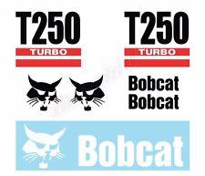 Bobcat T250 Turbo Skid Steer Set Vinyl Decal Sticker Free Shipping