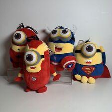 Minions Marvel Characters X 4 Captain America Spiderman Superman Iron Rare Plush
