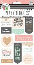 THE HAPPY PLANNER Stickers - ROSE GOLD - 5 shts