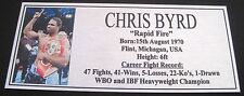 """CHRIS BYRD new Boxing Champions Gold  Subimated Plaque """"FREE POSTAGE"""""""