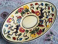 "Vintage Charlotte Rhead 12"" Hand Painted Indian Tree H. J. Wood Serving Platter"