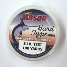 Mason Hard Type Nylon 8# Mono Leader Material, 100 Yard, Clear  #HSR-8-100YD