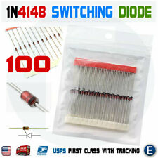 100pcs 1N4148 switching signal diode ST DO-35 100V 200mA replaces 1N914 USA