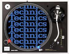TECHNICS COLLAGE BLUE- DJ SLIPMATS (1 PAIR) 1200's MK5 MK2 M3D or any turntable