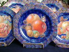 ROSENTHAL- FRUIT/BUTTERFLY DECOR PLATE(S) c.1919+   OCTAGONAL! EXCELLENT! GILT!