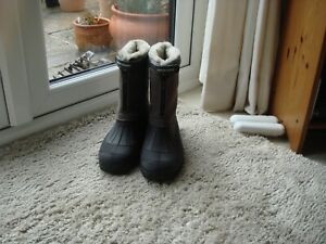 Cotton Trader Fur Lined Sherpa Boots Size 10 Colour Mink