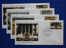 Marshall Islands (271-274) 1991 WWII: Roosevelt's Four Freedoms Official FDCs