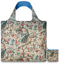 Peacock & Peonies MUSEUM ART by LOQI Eco Chic Reusable Shopping Tote Bag & Pouch