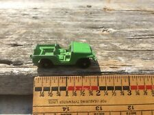Vintage Green Metal Toy Army Jeep , Tootsie?