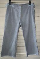 Anthropologie Elevenses Sz 10 Oxford Cotton Stretch Cropped Pants Casual EUC