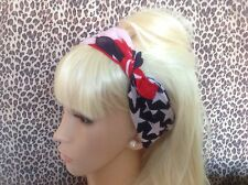 USA AMERICAN FLAG COTTON BANDANA HEAD HAIR NECK SCARF RETRO ROCKABILLY PIN UP