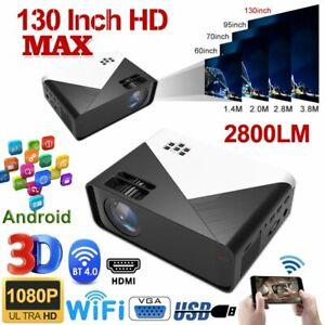 Portable Full HD 1080P Mini Wifi Bluetooth LED Movie Projector Home Theatre HDMI