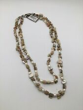 """TOMMY BAHAMA """" NATURAL SHELL DOUBLE STRAND  """" GORGEOUS  Necklace-NWT!"""