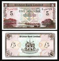 Northern Ireland Ulster Bank , 5 Pounds 2013 , UNC , P-340 , Prefix E