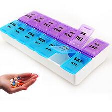 New 7 Day Pill Box Medicine Tablet Dispenser Organiser Weekly AM PM UK Seller