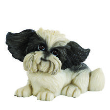 More details for little paws oreo the shih tzu dog figurine new in gift box