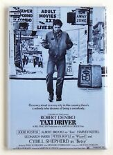 Taxi Driver Fridge Magnet (2.5 x 3.5 inches) movie poster style B