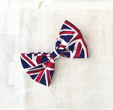Union Jack, Great Britain Pin up Hair Bow Clip. Patriotic, Punk, Vintage, Retro