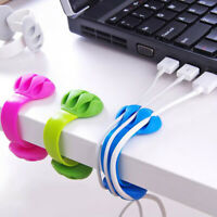 Earphone cable organizer wire storage silicon charger cable holder clips Pip CA