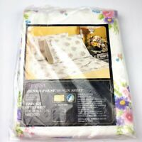 Vintage Sears Teresa Perma Prest Muslin Twin Size Fitted Sheet NOS 39x75 Floral